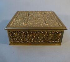 Art Nouveau Casket Tin Box Putti Brass Erhard and Sons Um1915