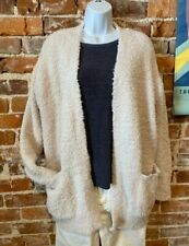 Barefoot Dreams Almond Cozychic So-Cal Cardi Open Front Cardigan New