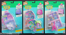 Mini Polly Pocket 3suitcas NEW Snow Mountain Paris Jungle Adventure Koffer.Hotel