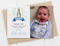10 Photo Thank You Cards Personalised Peter Rabbit Christening/Baptism