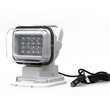 LED Marine Remote Control Spotlight Offroad Truck Car Boat Search Light 50W Best