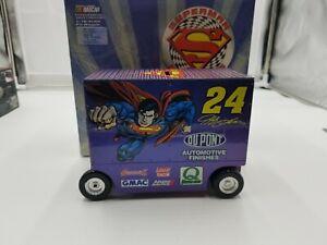 1999 Jeff Gordon #24 Dupont Superman 1:16  Diecast Pit Wagon Bank 1/3504 Rare