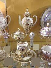 Russian Imperial Lomonosov Porcelain Coffee Set Gold Butterflies 6/20 Russia