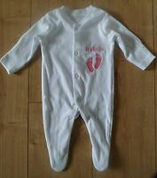 PERSONALISED SLEEPSUIT ANY NAME EMBROIDERED BABY BOY GIRL CLOTHES GIFT