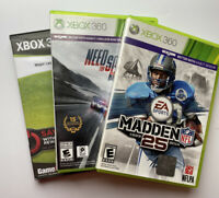 xbox 360 Games- Madden NFL25, Need For Speed Rivals, 2K Baseball