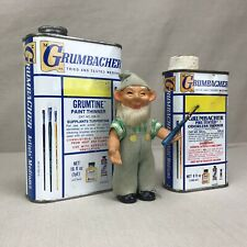 Grumbacher Grumtine Vintage Metal Containers Paint Thinner Supplants Turpentine