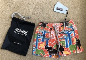 New w Tags & Bag Authentic VILEBREQUIN Swim Trunks 2 YEARS Kids Unisex ELEPHANTS