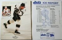 1993 Indianapolis Ice vs Peoria Rivermen IHL Program Noonan Hockey Blackhawks