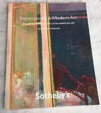 Sothebys NY Impressionist MODERN Russian Latin Am ART 6 Oct 2009 Auction Catalog