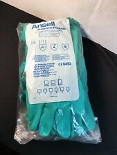 Lot 8 Pairs Of Ansell Sol-Vex 37-175 Chemical Resistant Gloves Size 10 Open Pack