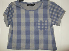 TOPSHOP petite blue and grey T Shirt size 6