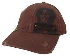 Bob Marley Patch Distressed Brown Baseball Hat Cap New Official Merch