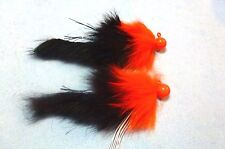 Steelhead Salmon Trout 3/8 oz Black/Orange. Twitching Jigs (X2) *