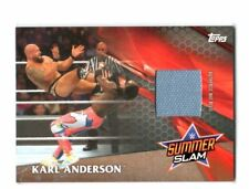 "2017 WWE TOPPS ""KARL ANDERSON"" MAT INSERT RELIC WRESTLING CARD - V/GOOD COND"