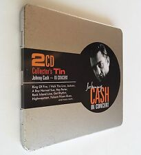 Johnny Cash In Concert by Johnny Cash ~ 2CD Collector's Tin (CD, Jul-2009) NEW