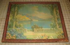 "Vintage ""BLUE LAKE"" R. Atkinson Fox 18"" x 14"" Glass Framed Print"