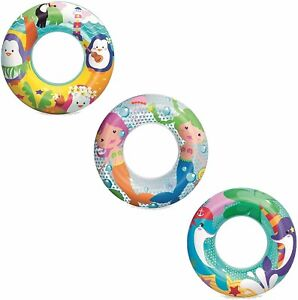 "20"" Animal Childrens Kids Swimming Swim Rubber Ring Float Sea Plain Round Beach"