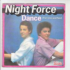 """NIGHT FORCE Vinyl 45T SP 7"""" DANCE Part I et II Disques IBACH 60096 Frais Reduit"""