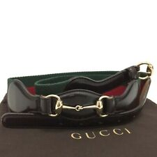 New GUCCI Webbing Horse Bit Brown Leather 95/38 Mens Belt /3659
