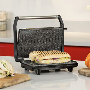 TOWER NON-STICK MINI PANINI GRILL & PRESS STAINLESS STEEL TOASTIE SANDWICH MAKER