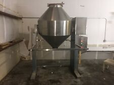 1000 liter polished 316 stainless steel conical top and bottom powder tote tank