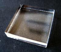 Plexiglas Sockel 25 x 25 x 6 mm, Klar f. Mineralien, Sammlung mineral base
