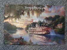 The Delta Queen Thomas Kinkade Disney Postcard Steam boat Mississippi River boat