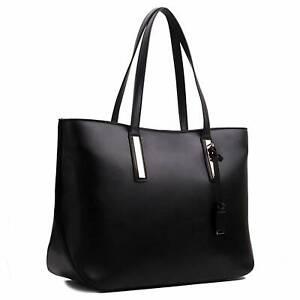 Ladies Designer Large Shoulder Tote Large Laptop Bag A4 PU Leather Handbag