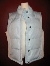 GAP XL quilted solid light sky baby blue  65% down puffer zip front vest