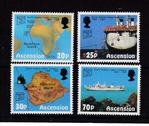 ASCENSION ISLAND MNH STAMP SET 1993 SOUTH ATLANTIC CABLE COMPANY SG 600-603