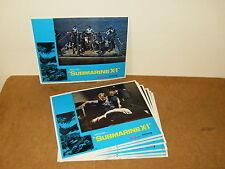 7 PHOTOS D' EXPLOITATION  cinéma (lobby cards) - SUBMARINE X1 - 1968