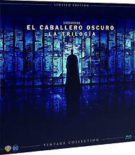 EL CABALLERO OSCURO BLU RAY VINILO TRILOGIA COMPLETA VINTAGE NUEVO ( SIN ABRIR )