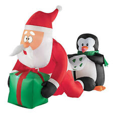 4 ft. Santa Getting A Wedgie From Penguin Christmas Inflatable
