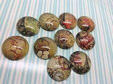 10 X 20mm Steampunk Alterado Arte Vidrio Cabuchones Hobby fabricación de joyas, artesanía