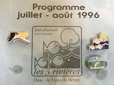 lot de 3 fèves Pagis personnalisées les 3 rivières 1996