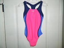 Girl's Speedo Pink & Blue One-Piece Swimsuit Size 12