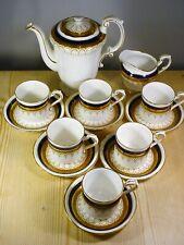 "Paragon Porzellan "" Stirling "" Vergoldetem & Kobaltblau Kaffee Set"