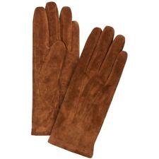 JOHN LEWIS - BNWT - Womens Dark Tan Suede Leather Fleece Lined Gloves S/M