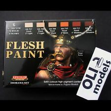FLESH TONES Acrylic Paint Set 6x20ml  LIFECOLOR CS13