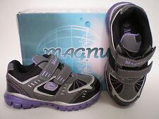 Kinder Schuhe Mädchen Magnus 2 Klettverschluß Gr. 33 Black Silver Purple Neu