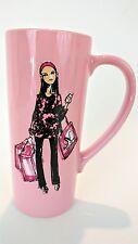 Simply Vera Wang Coffee Cup Pink Ribbon Breast Cancer Awareness Mug Shopping Bag