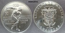 PANAMÁ año 1970. 5 Balboas PLATA XI Juegos Deportivos Americanos. Peso 35,60 gr.