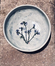 Salt Marsh Pottery Dartmouth, MA Bowl Wall Hanging Toad Flax Flowers ~ Excellent