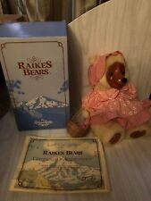 Vintage Sara Anne Raikes Bear by Applause 1987 Signed 15 inches with Tag U1193