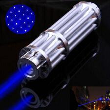 Blue Laser Pointer Point Pen 450nm Match Burning Beam Light Lazer+0.5mW Star Cap