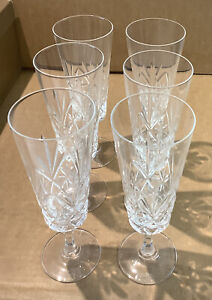 X6 Crystal Champagne Flute Glasses