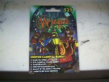 CREEPIER CARNIVAL BUNDLE Wizard 101 Game Card Crowns new