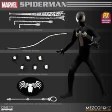 Dcl50854 Mezco PX Spider-man Black Suit One 12 Collective Action Figure