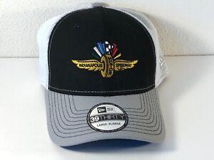 Indianapolis Motor Speedway Large-Xlarge Dad Hat Cap New Era 39 Black White Gray