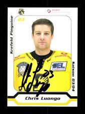 Chris Luongo AUTOGRAFO scheda Krefeld pinguini 2003-04 ORIGINALE FIRMATO + a 137981